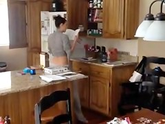 Sexy Mom Gets Caught in the kitchen