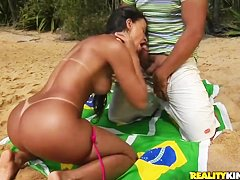 Remarkable and hot Brazilian curve Adryanna Duarte fucks Tony Tigrao